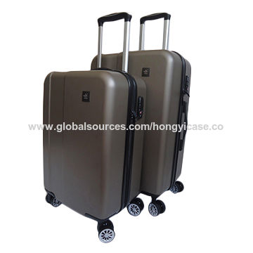 Chinese factory ABS hard side luggage sets, dull polish style
