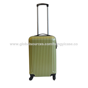 Colorful ABS PC zipper luggage with spinner wheels
