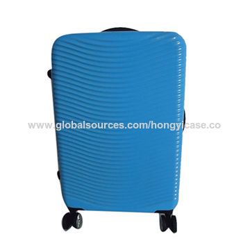 Customized pure PC zipper trolley luggage