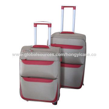 EVA luggage trolley case, spinner wheels