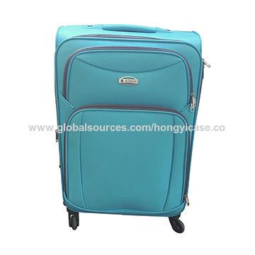 Expandable soft side luggage set