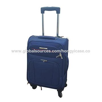 Expandable soft side suitcase