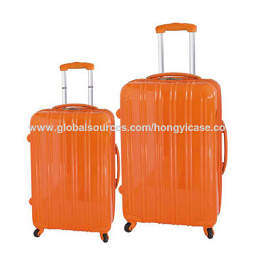 Factory PC travel luggage with double trolley