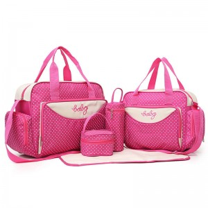 Factory wholesale Multi-function large-capacity maternal and child package to be packaged Mummy bag Mummy bag five-piece