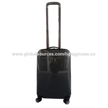 Fashionable ABS PC luggage with double trolley