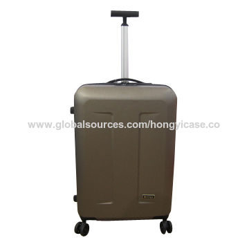 Fashionable suitcase luggage with single trolley, made of ABS dull polsih