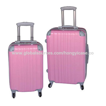 Front panel ABS suitcase set