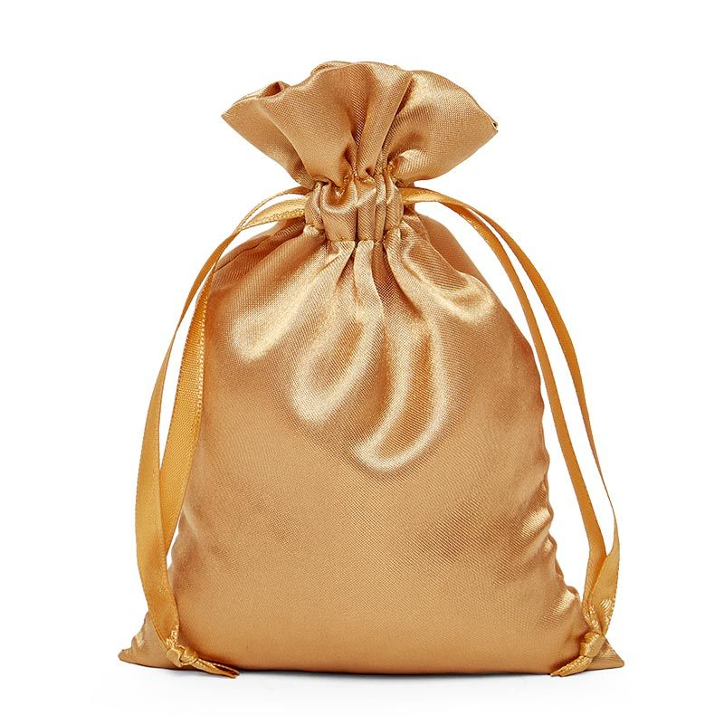 Promotional Black Virgin Hair Drawstring Silk Wig Packaging Bag Satin Bag