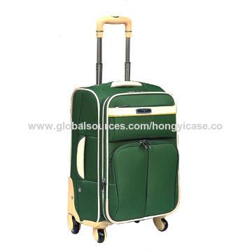 Green Good-quality 4-wheel Trolley EVA Luggage