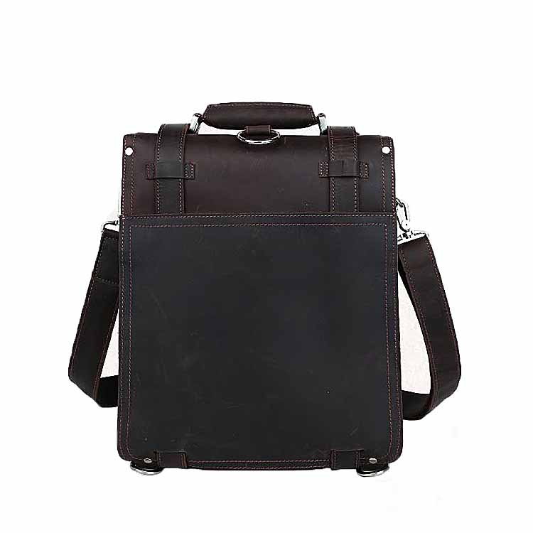 Luxury Black Smooth Calf Leather Business Backpack Unisex Soft and Supple Leather Backpack