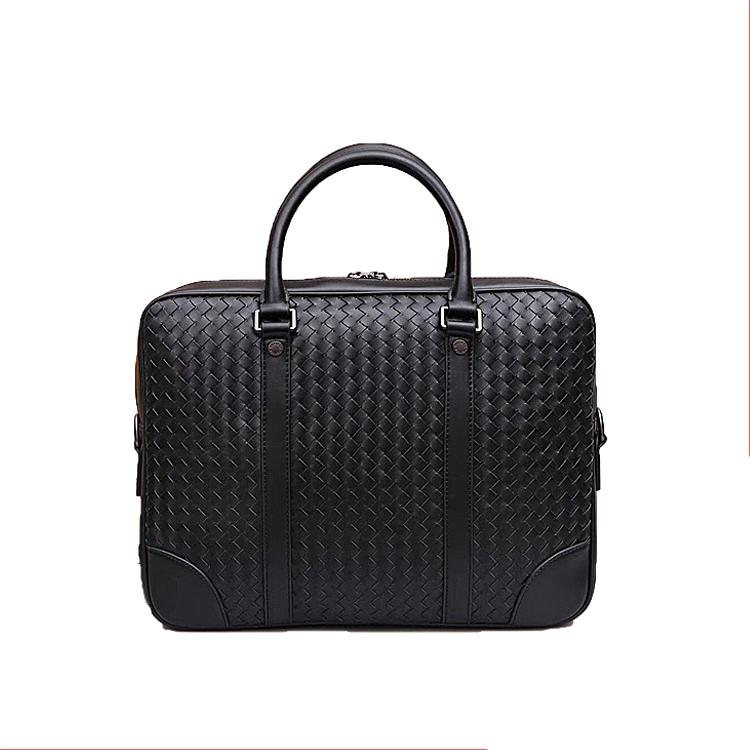 Business Laptop Bag For Men Genuine Leather Briefcase Leather Messenger Shoulder Bag