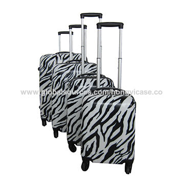 Hard Shell Zebra Printed PC Luggage Case from China