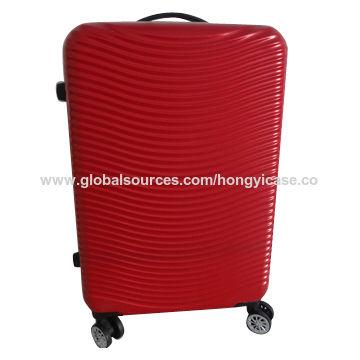 Hot sale spinner wheels code lock ABS/PC zipper luggage