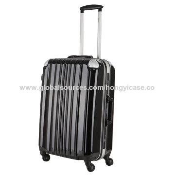 Luggage with aluminum frame, ABS