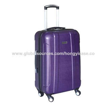 Luggage with brush printing, made of ABS
