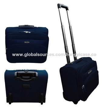 Nylon spinner carry-on luggage