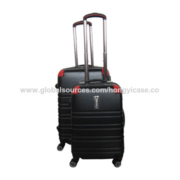 PC hard shell luggage with spinner wheels, trolley