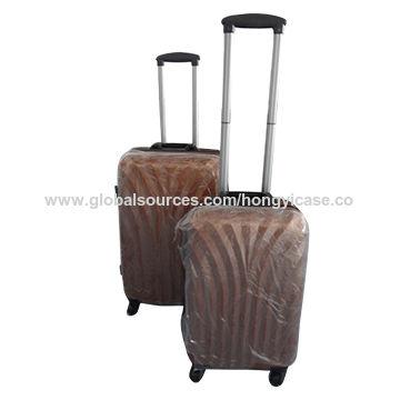 PC luggage set with aluminium frame