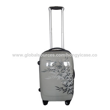 PC zipper luggage with printings