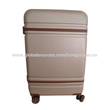 PVC decorated trim trolley luggage sets