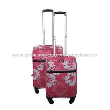 Printed soft EVA luggage set