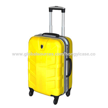Pure PC luggage bag with aluminum frame