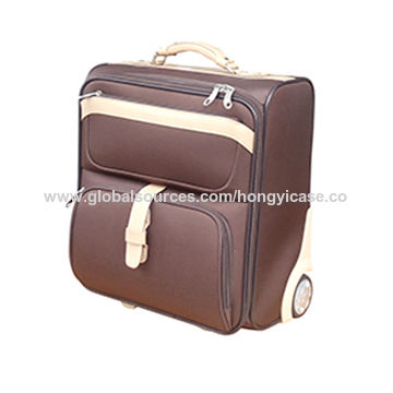 Soft cabin polyester suitcase for business trip
