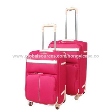Soft nylon luggage sets