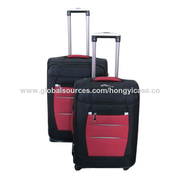 Soft-side trolley case for travel, made of EVA