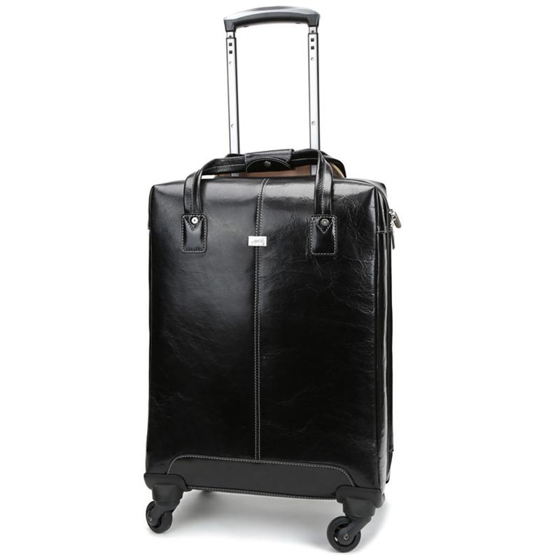 20″ Wheeled Traveler,Leather Luggage,Wheeler,Genuine leather Travel Bag