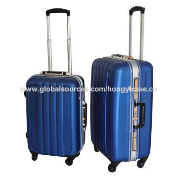 TSA aluminium frame trolley suitcase