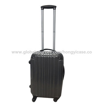 Wholesale PC luggage case with double trolley
