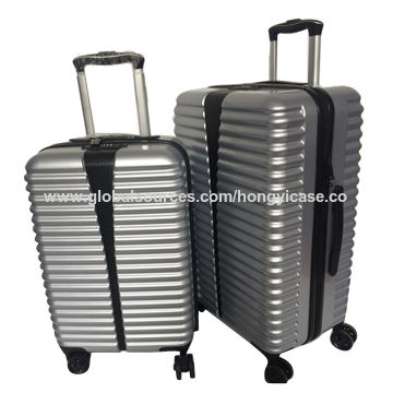 Wholesale firm PVC+ABS suitcase with single trolley