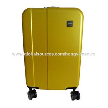 Yellow universal caster dull polish hard ABS luggage