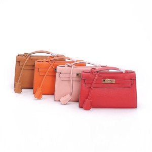 Palm Print Leather Small Totes Women Long Strap Shoulder Bags Can Wear As Clutch Bag