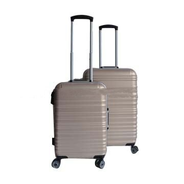 Aluminum luggage made of ABS