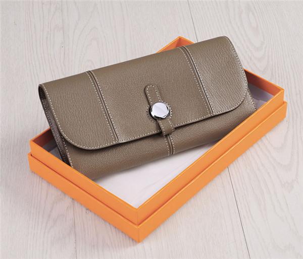 OEM Ladies Purse Natural Leather Buckle Purse Famous Brand Purses Long Purse Clutch Purses Manufacturer