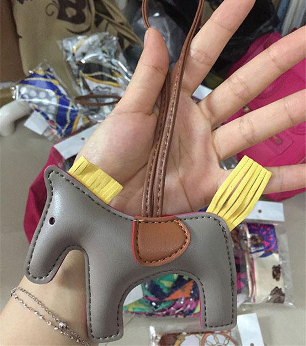 Pony Hanging Accessory Fashion Leather Accessory Women Leather Bags Accessory For Bags