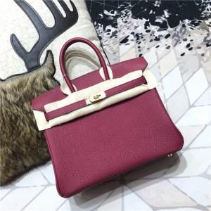 High Quality Jujube Red Togo Leather Lady Fashion Handbags 30cm & 35cm