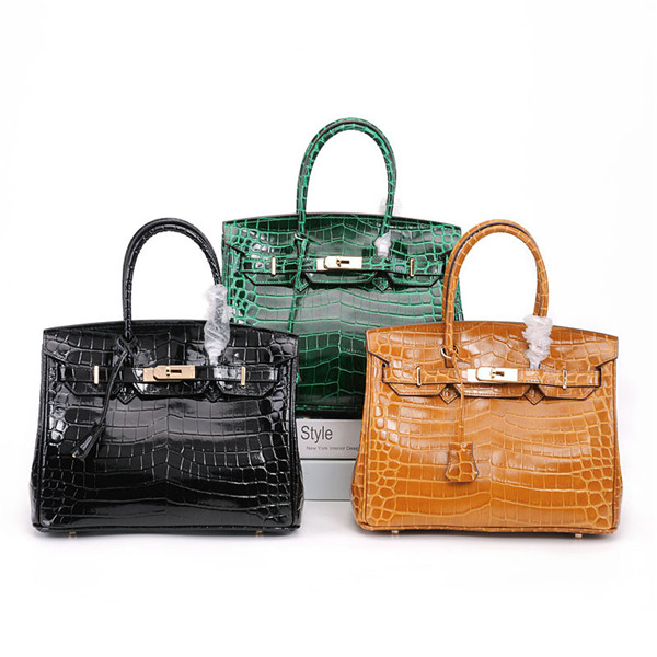 High Quality Designer Handbags Alligator Cow Leather Tote Bags