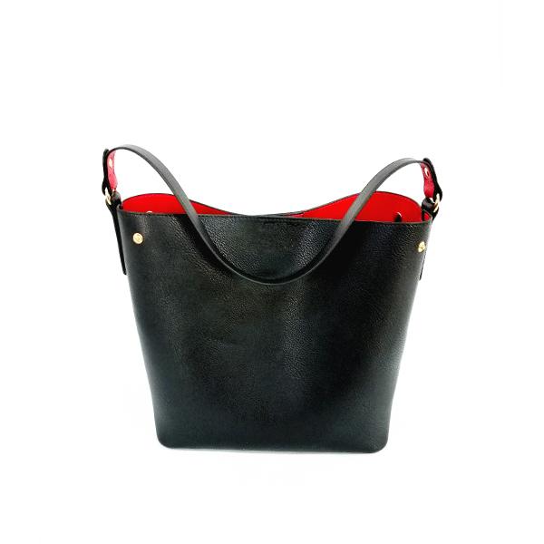 Color blocking Open Handbag single shoulder bag/bucket bag Featured Image