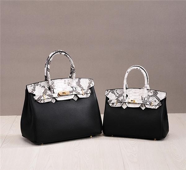 High Quality Personalized Bags Snake Skin Fashion Ladies Designer Replica Handbags