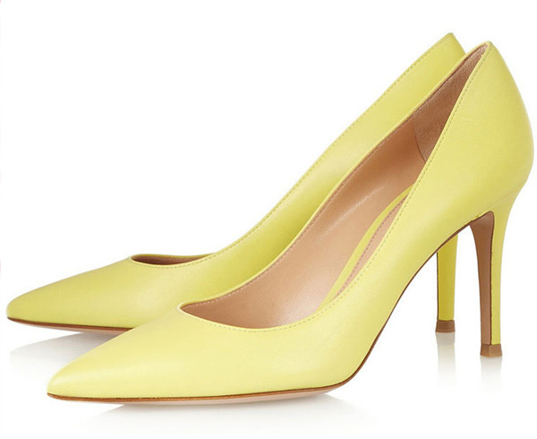 Yellow Leather Women Dress Shoes Featured Image