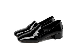 New Fashion Black Patent Leather Ladies Dress Shoes