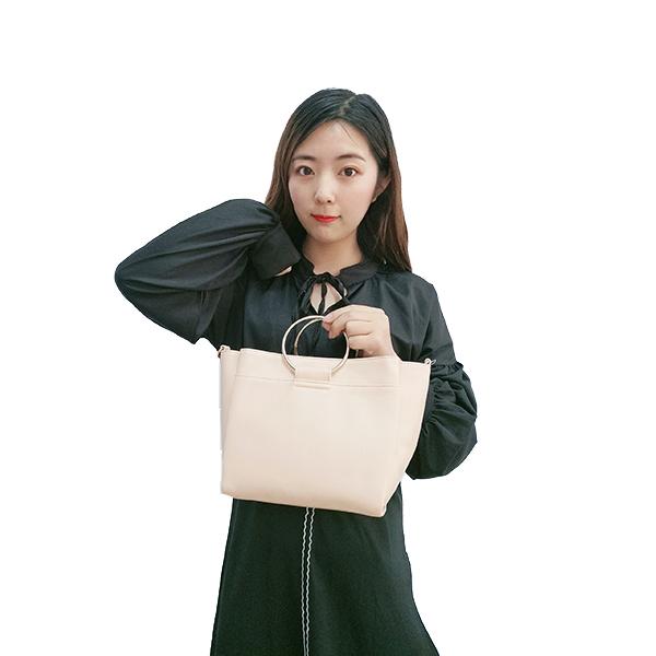 Yellow ring portable + crossbody bag