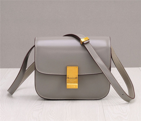 Western Style Grey Mini Shoulder Bag Women Square European Custom Bag