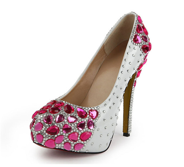 Pink Crystal 14cm Stiletto High Heel Shoes Featured Image