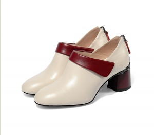 Round Toe Big Heel Shoes For Lady