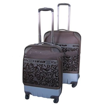 ABS + EVA trolley case with 4 wheels, 20/24/28