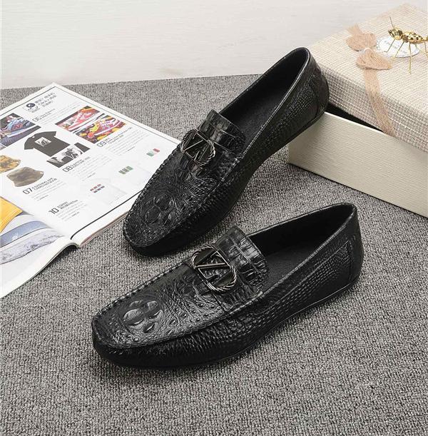 OEM Men Italian Crocodile Pattern Cowhide Loafers Luxury Moccasins